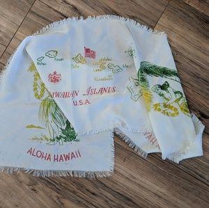 Vintage 80's Hawaiian Islands Tapestry